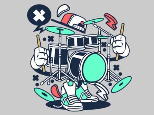 Drum Set t shirt vector illustration