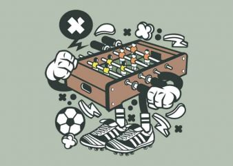 Football Table print ready shirt design
