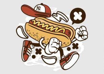 Hot Dog vector t-shirt design