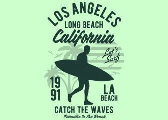 Los Angeles Long Beach t shirt design