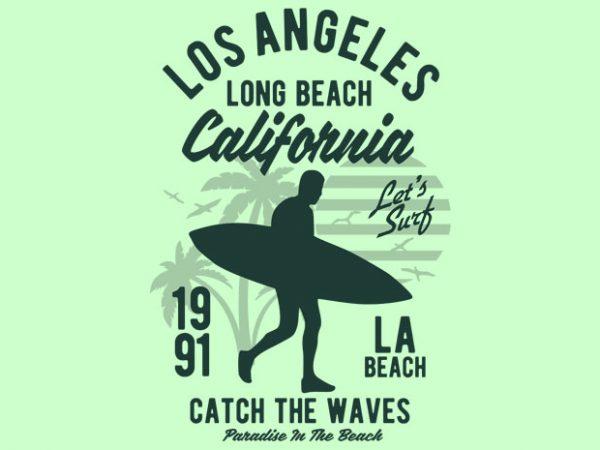 Los Angeles Long Beach t shirt design