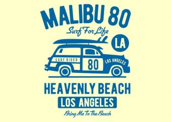 Malibu 80 t shirt design