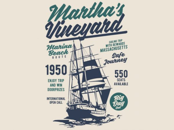 Martha_s Vineyard t shirt design