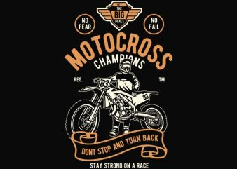 Motocross Champions t shirt design