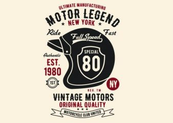 Motor Legend Helmet t shirt design