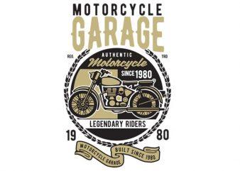 Motorcycle Garage Classic t-shirt design