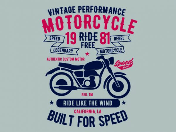 Motorcycle Ride Free t shirt design
