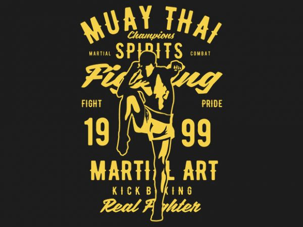 Muay Thai Tshirt design