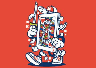 Playing Card vector t-shirt design