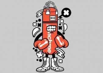 Punch Bag Boxer t shirt illustration