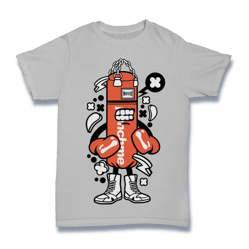 Punch Bag Boxer t shirt design png
