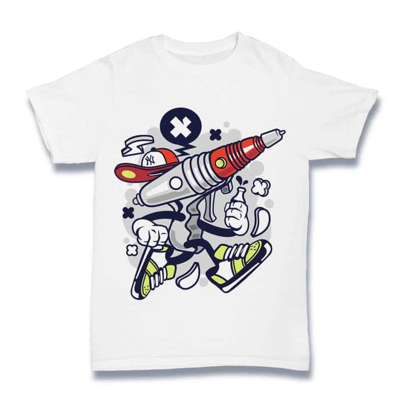 Ray Gun t shirt designs for printify