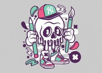 Skull vector t shirt design artwork