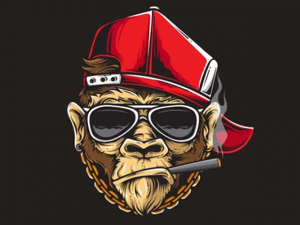 Cooling Ape t shirt design to buy