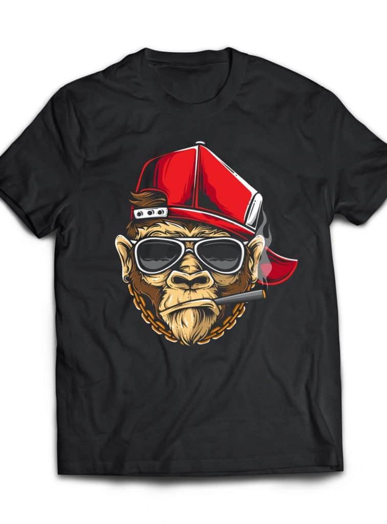 Cooling Ape vector t shirt design