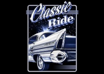 Classic Ride graphic t-shirt design