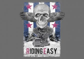 Riding Easy commercial use t-shirt design