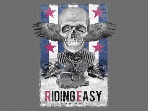 Riding Easy t shirt design online