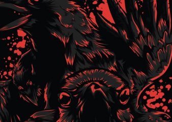 Black Crow vector t-shirt design