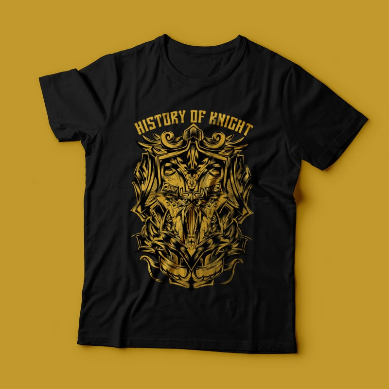 History of Knight t shirt designs for teespring