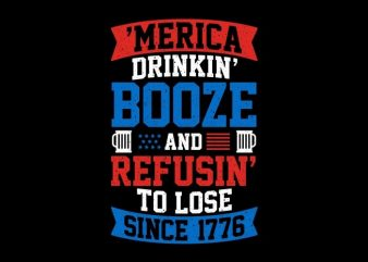 America Drinking Booze t shirt vector