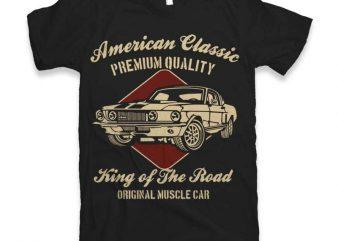 American Classic t shirt vector