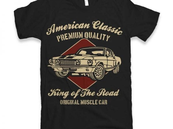 American Classic t shirt design for sale