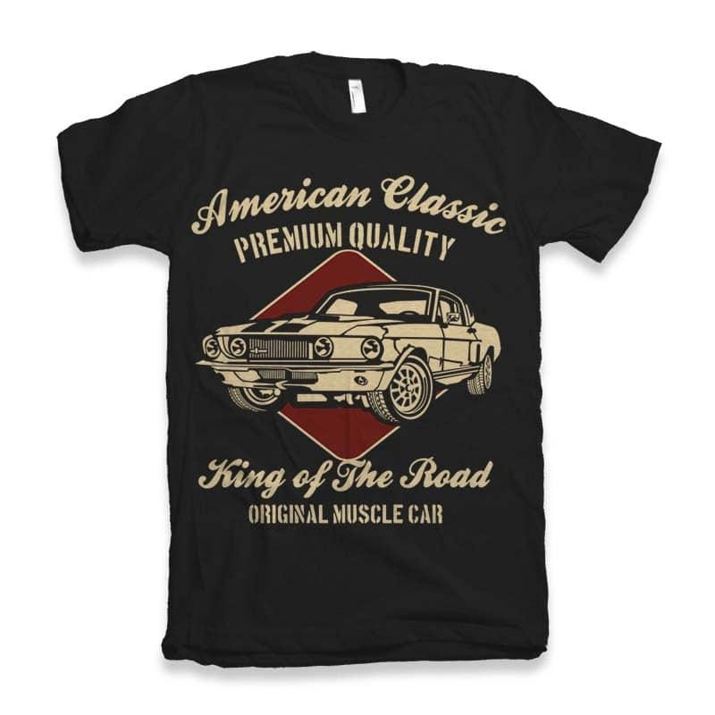 American Classic tshirt design for merch by amazon