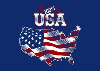 100% USA t shirt design png