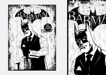 Barman Batman Tshirt Design