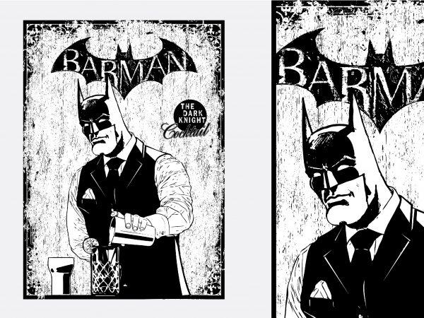 Barman Batman Tshirt Design