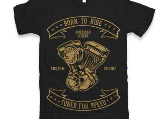 Born To Ride Vector t-shirt design