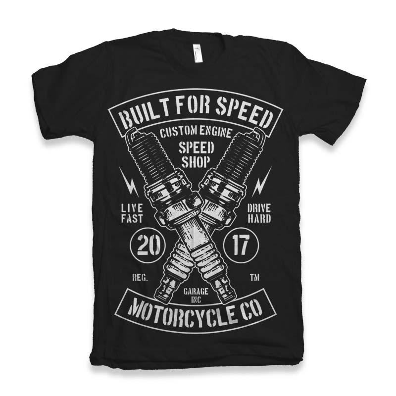 Built For Speed t-shirt design t shirt designs for teespring