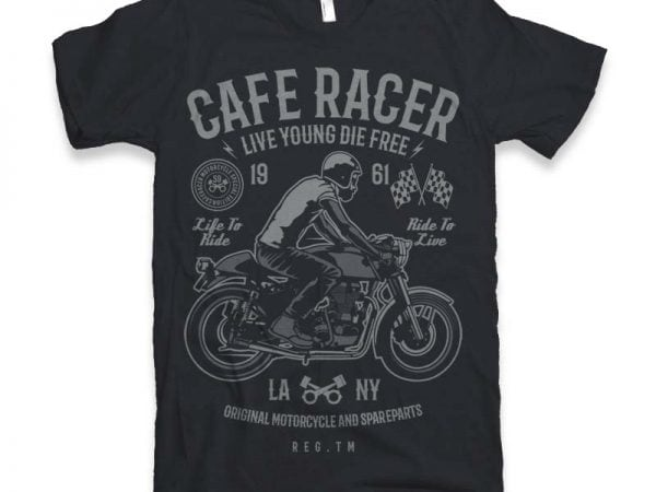 Cafe Racer t-shirt design