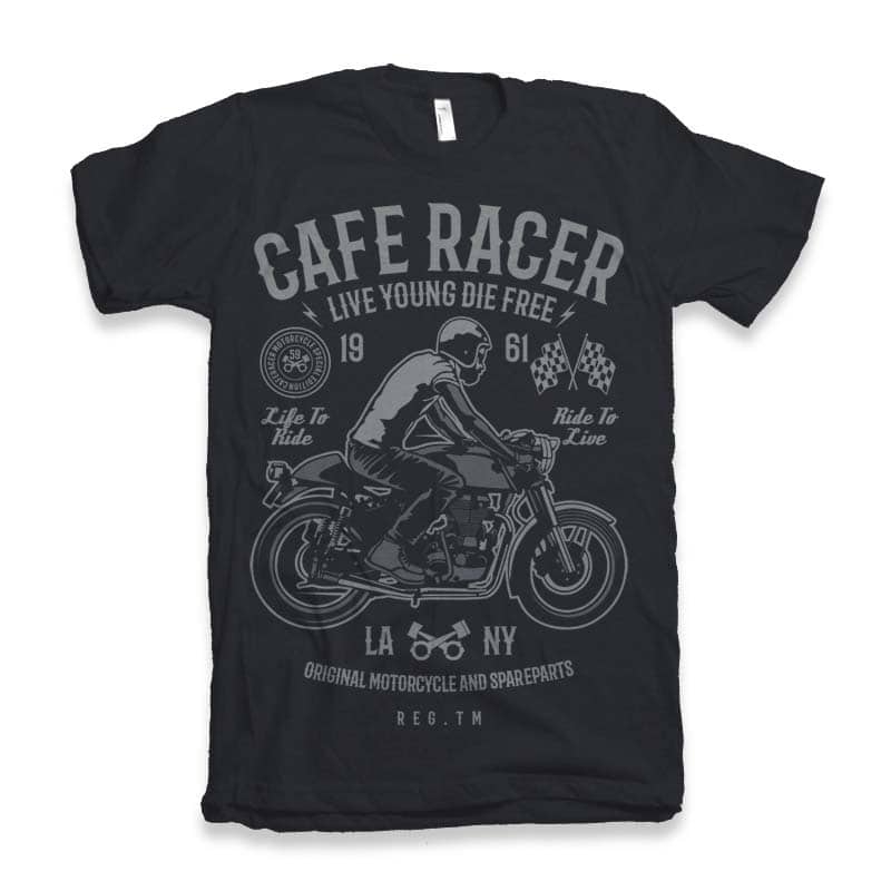 Cafe Racer t-shirt design t shirt designs for teespring