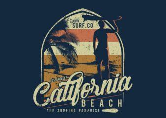California Beach vector shirt design