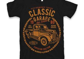 Classic Garage t-shirt design
