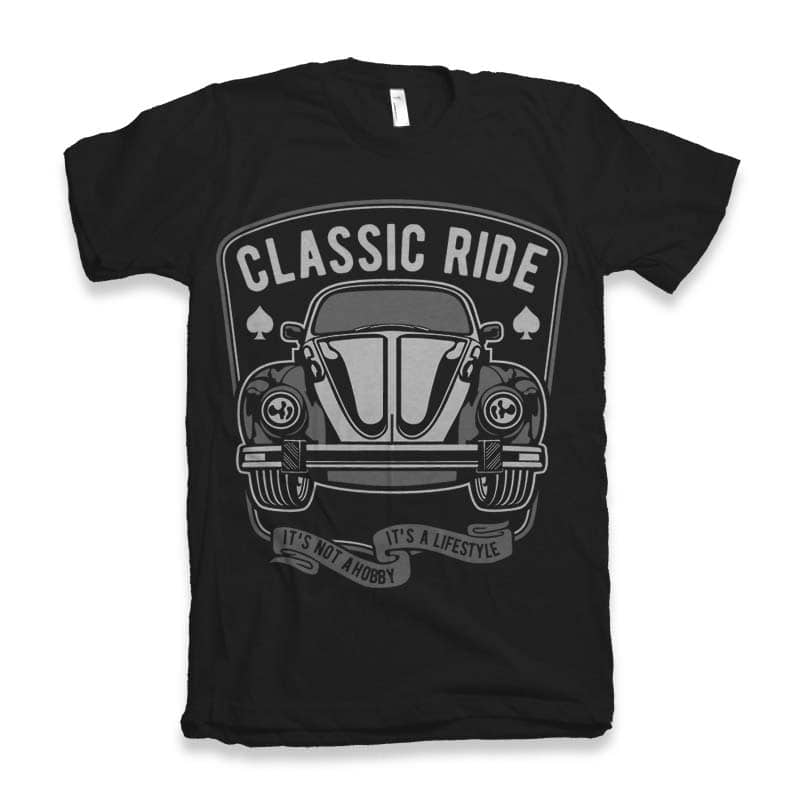 Classic Ride Graphic tee design vector shirt designs