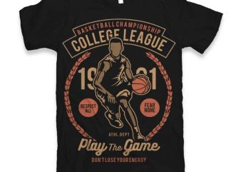College League Vector t-shirt design