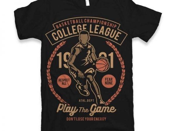 College League Vector t-shirt design