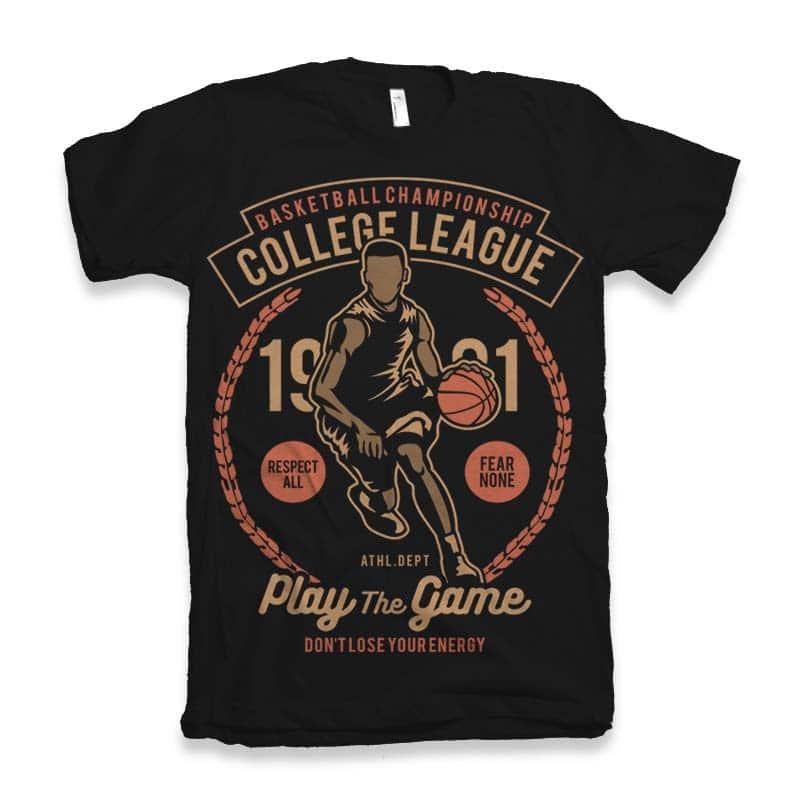 College League Vector t-shirt design vector shirt designs
