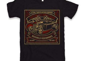 Custom Hot Rod Classic t-shirt design