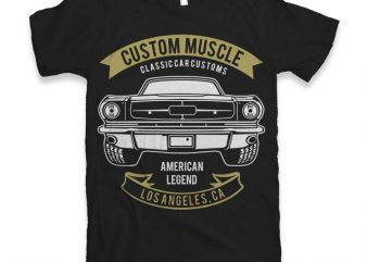 Custom Muscle t-shirt design