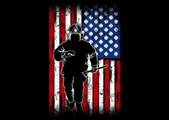 The Fireman Flag t shirt designs for sale