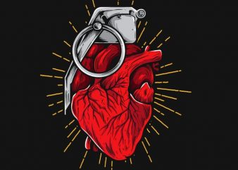 HeartGrenade vector t shirt design artwork