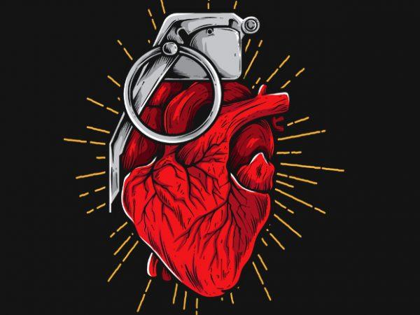 HeartGrenade graphic t shirt