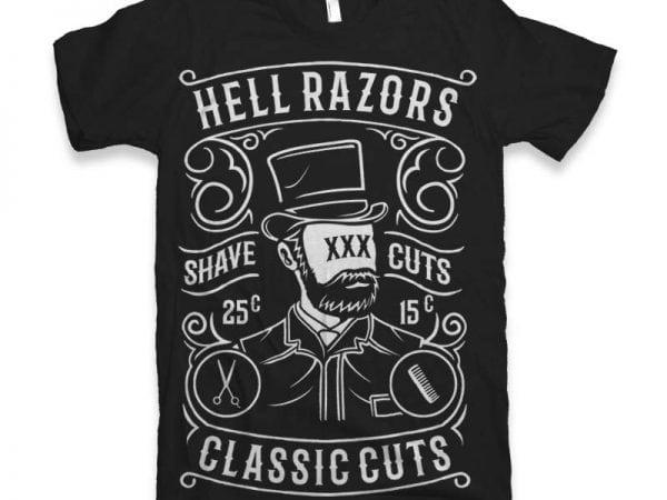 Hell Razors Vector t-shirt design