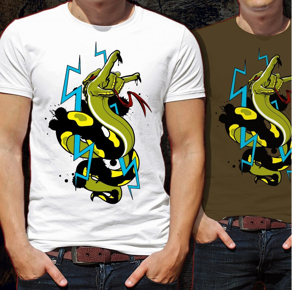 Hell Snake Tshirt Design tshirt design for merch by amazon