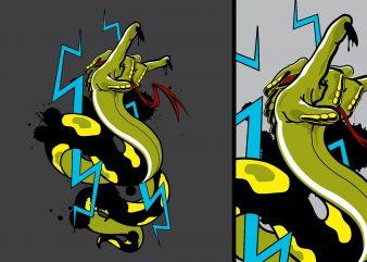 Hell Snake Tshirt Design