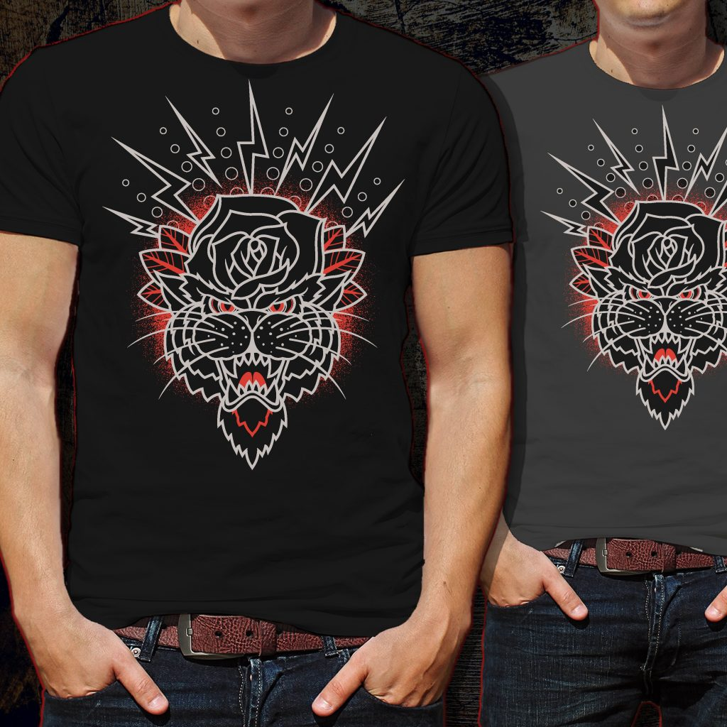 Mister Roser Panther Tshirt Design tshirt design for merch by amazon